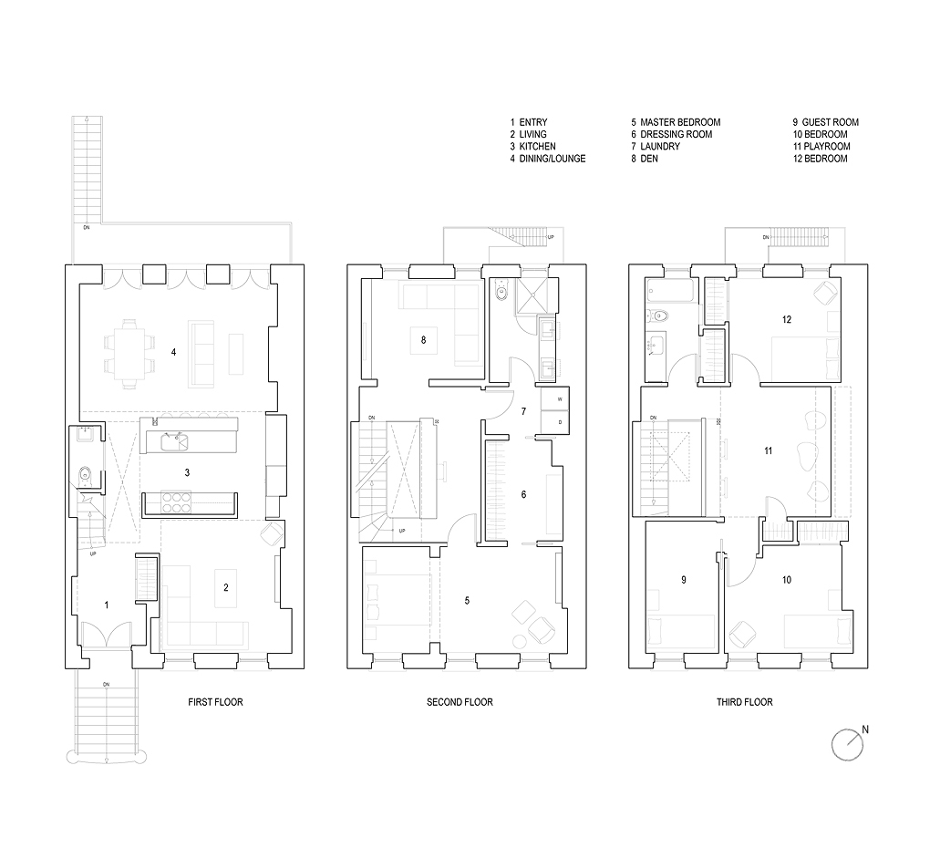 CHEEVER FLOOR PLANS with floor labels